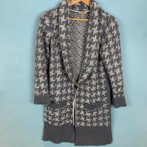 LOFT Knit Long-Sleeved Cardigan Sweater - Medium